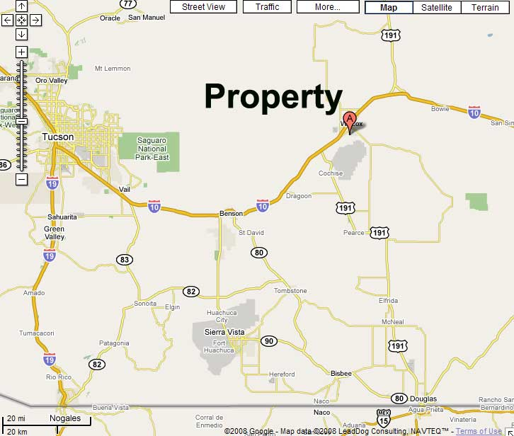 Map Of Southeast Arizona.25 Acre Of Southern Arizona Investment Land